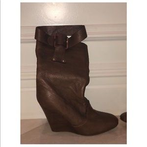 Chloe Cognac/Brown Soft Lambskin Leather Boots